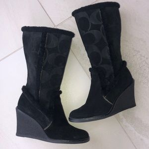 Wedge Coach Boots
